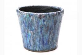 Blomkruka keramik Ø14,5 cm, blå