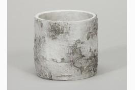 Kruka i betong trädstam, Ø 13 cm H 12,5 cm
