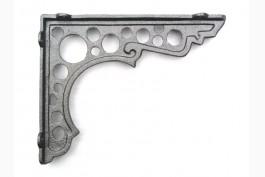 Hyllkonsol obehandlat gjutjärn 20x16 cm, 1 par