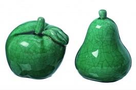 Äpple och päron i keramik