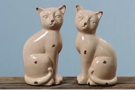 Katter i keramik, 2 st/set
