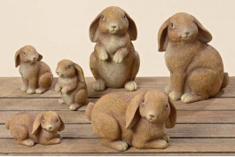 Söta kaniner, 3 st/set (16 cm)
