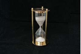 Timglas i mässing/glas 15 cm