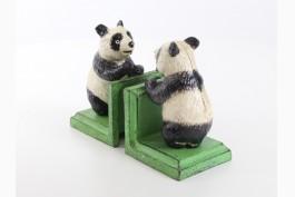 Bokstöd panda gjutjärn, 1 par