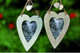Hjärtformade ramar, 2 st/set