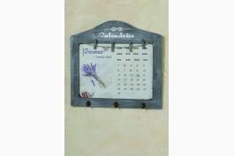 Memotavla/kalender med krokar