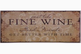 Plåtskylt, fine wine