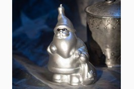 Figurljus cool tomte, silver