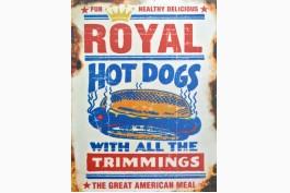 Plåttavla Royal hot dogs