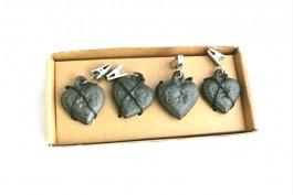 Tyngder för bordsduk, gjutjärn - hjärtan, 4 st/set