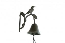 Väggklocka fågel, gjutjärn