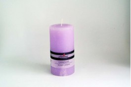 Blockljus lavendel Ø7,8 h15
