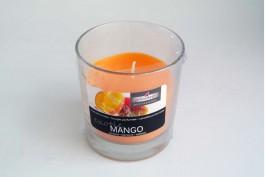 Doftljus i glas, mango