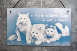 Plåtskylt, A house without a cat