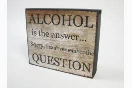 Trätavla alcohol