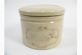 Keramikburk med lock (16 cm)
