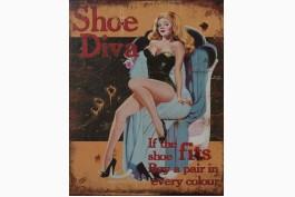 Plåttavla Shoe Diva