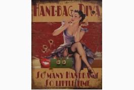 Plåttavla Handbag Diva
