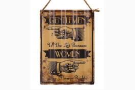 Tavla korrugerad plåt, Gentlemen/Women