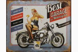 Plåttavla Best garage