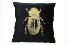 Kudde Skalbagge svart/guld 50x50 cm