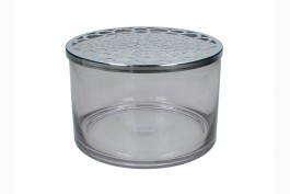 Gallervas rökfärgad/silver Ø 20 cm H 13 cm